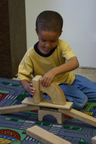 boy with blocks