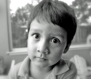 Big-eyed boy